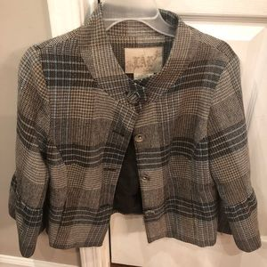 Live a Little plaid Jacket wool an polyester